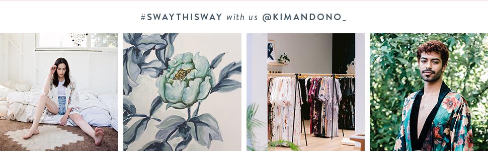 KIM+ONO Women's Kimono Robes Wraps Silk Charmeuse Sway This Way #swaythisway with us @kimandono_
