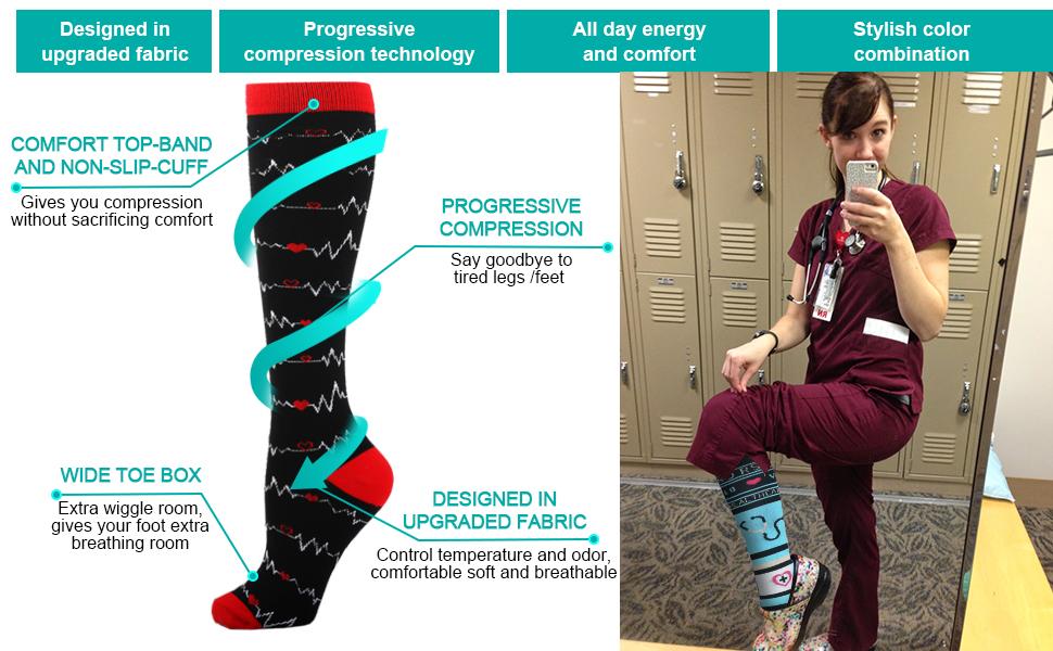 compression socks knee high