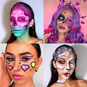 makeup painting looks