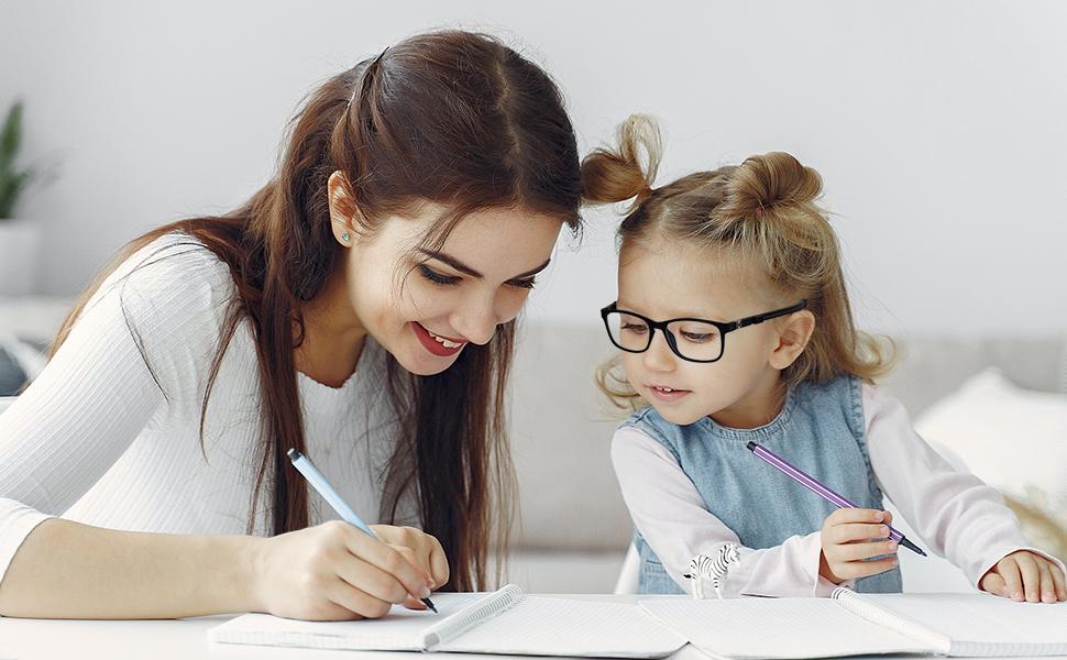 TYKEVO kids blue light blocking glasses, blue light filter eyeglasses, learn computer gaming phone