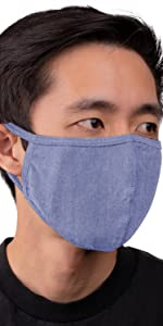 auline collection face mask denim blue