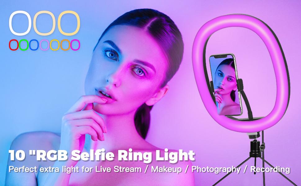 RGB LED Selfie Ring Light