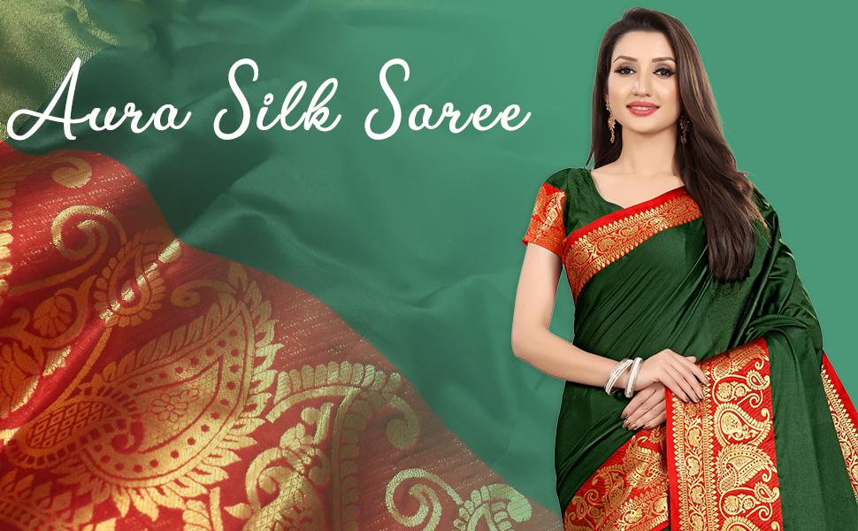 aura silk saree banner