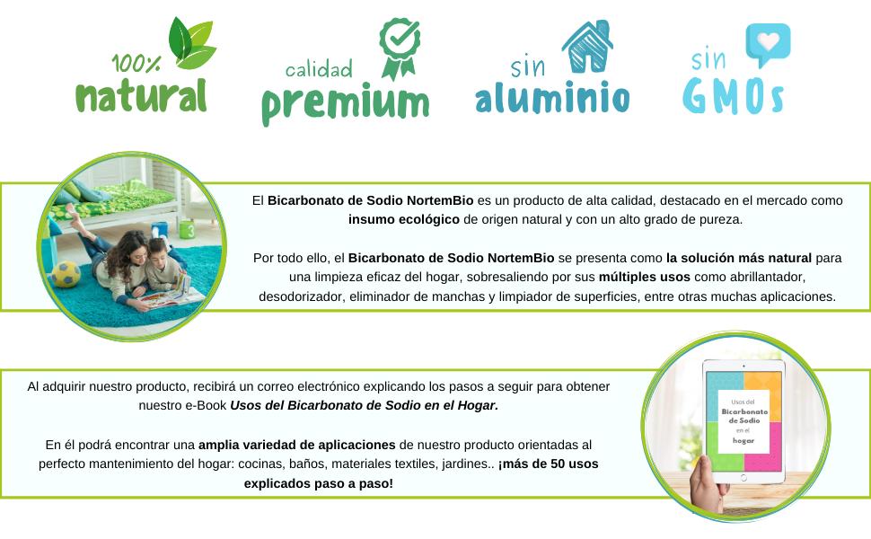 NortemBio Bicarbonato de Sodio 2x6kg, Insumo Ecológico de Origen ...