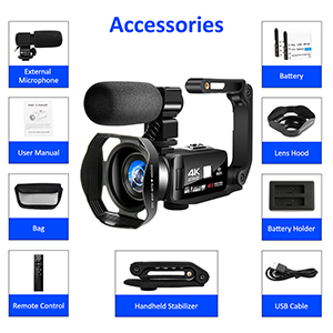 Flashandfocus.com c5594020-53c6-4213-b82c-836bb4c55ecc.__CR0,0,300,300_PT0_SX300_V1___ 4K Video Camera Camcorder with Microphone 30FPS 48MP Vlogging Camera with Rotatable 3.0 Touch Screen and Time-Lapse…