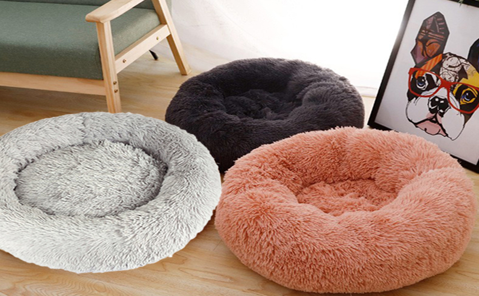 calming pet cat dog bed