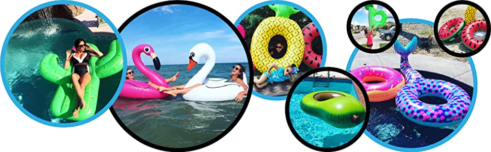Fun Pool Float Tube Raft