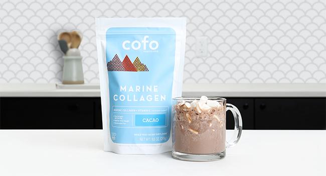 Collagen, marine collagen, cacao hot chocolate, clean collagen