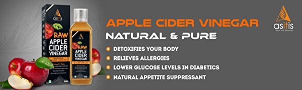 AS-IT-IS Raw Apple Cider Vinegar with Mother 500ml- Undiluted & Unfiltered