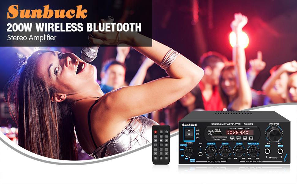 200W Bluetooth Amplifier