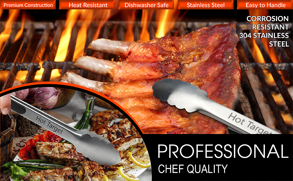 chef quality tongs