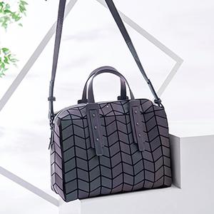 geometric luminous hand tote bag  geomtric luminous handbag and purse
