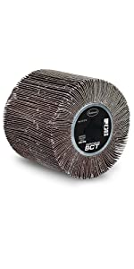 eastwood flap sand alumin oxide drum 6 12 24 grit fnish steel wire expand diameter condition contour