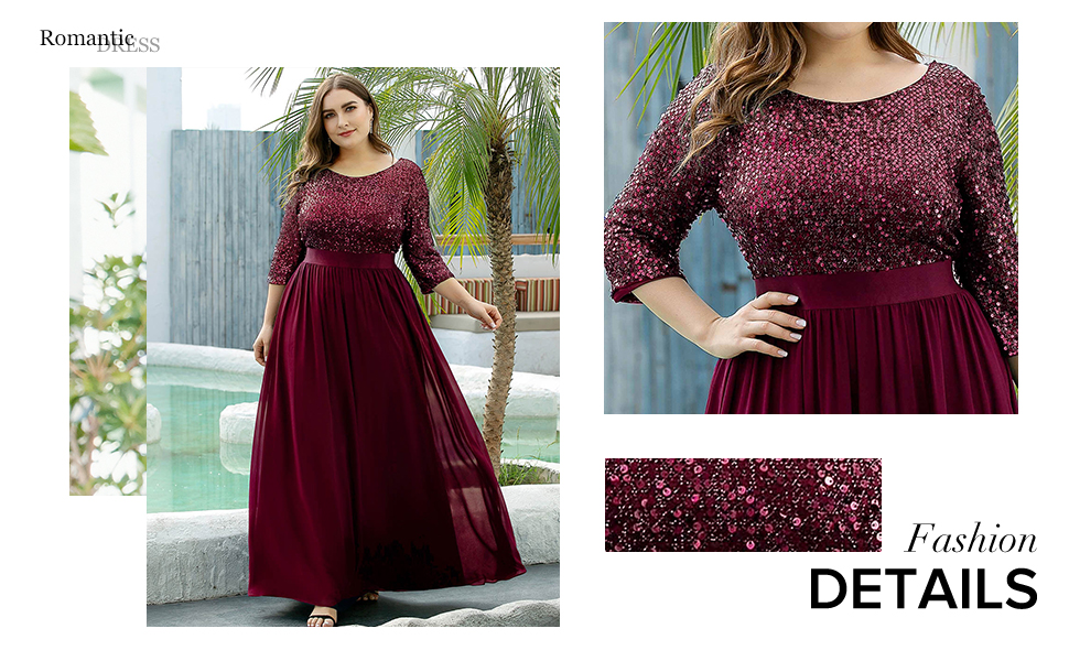 Ever-Pretty womens plus size prom dress dance dresses ball gowns plussize mother of the bride dress