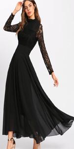 Black Long Sleeve Lace Dresses