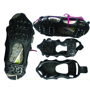 Ice /& Snow Grips Cleat Over Shoe//Boot Rubber Spikes Anti Slip Crampons Slip-on Stretch Footwear atliprime Traction Shoe Ice Traction Cleat