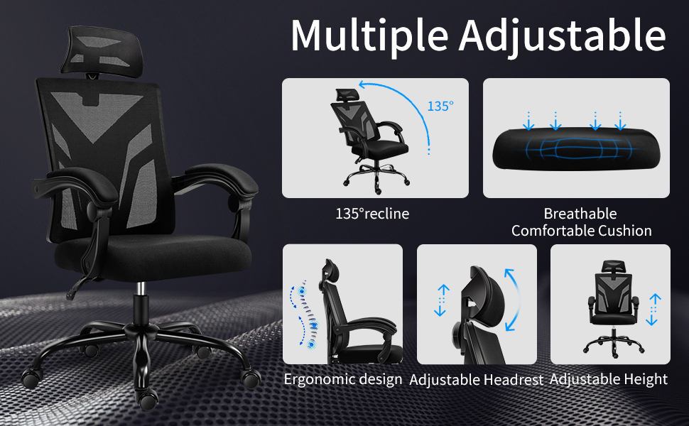 CRYfog ADJUSTABLE RECLINER OFFICE CHAIR