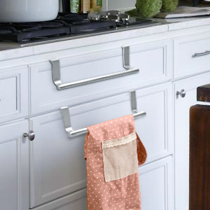 towel holder over the cabinet
