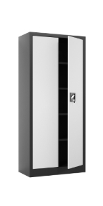 iJINGUR Metal Storage Cabinet, 70.9'' H, Black amp; Gray