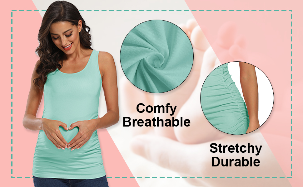 stretchy ruched side