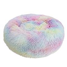 Decdeal Cama de Gato Donut Cama de Mascotas Perros Redonda Cómodo Suave Corto Nido de Donut con una Bola de Sisal para Animales Domésticos Cachorros ...