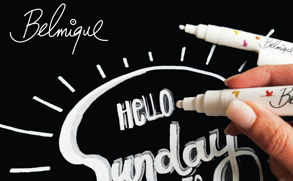 kreidemarker kreidestift schwarzt weiß feine fein weiss glasmalstifte marker whiteboardstift
