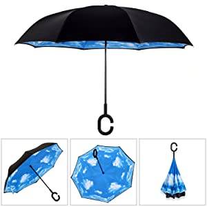 Double Layer Inverted Inverted Umbrella Is Light And Sturdy Robot Flat Icon Design Artificial Person Reverse Umbrella And Windproof Umbrella Edge Nig