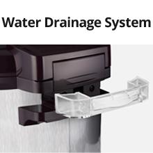 Système de drainage de l'eau.