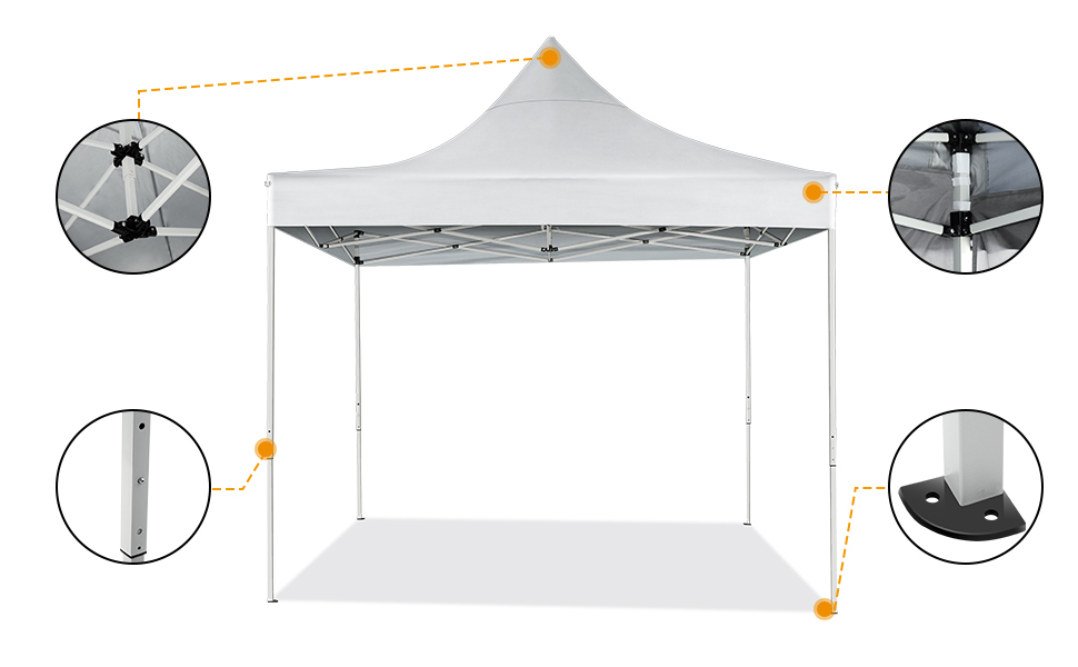 YUEBO Cenador Plegable 3x3m Carpas Plegables Pop Up Gazebo ...