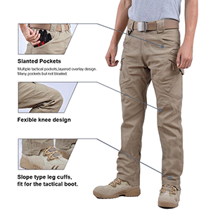 combat elastic waistband resistance scratch soft breathable uv protection knife pocket knee pads