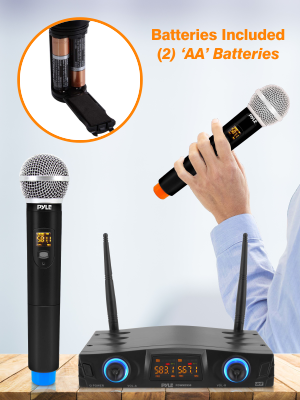 compact UHF wireless microphone system image 001