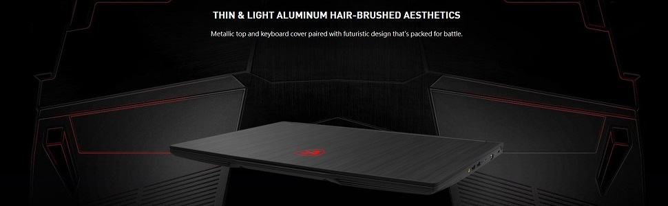 Thin and Light Aluminum Hair-Brushed Aesthetics
