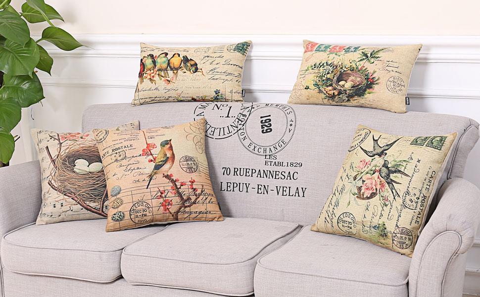 Trendin Easter Birds Pillow Cover
