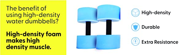 water weight dumbbell exercise high density foam durable extra resistance play senior work out