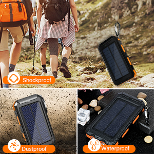 solar power bank portable charge r  portable charger power bank
