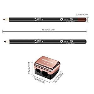 Eyebrow Stencils SET with 36 Pairs Eyebrow Shape Stickers Reusable Women 3-in-1 Black Eyebrow Pencil