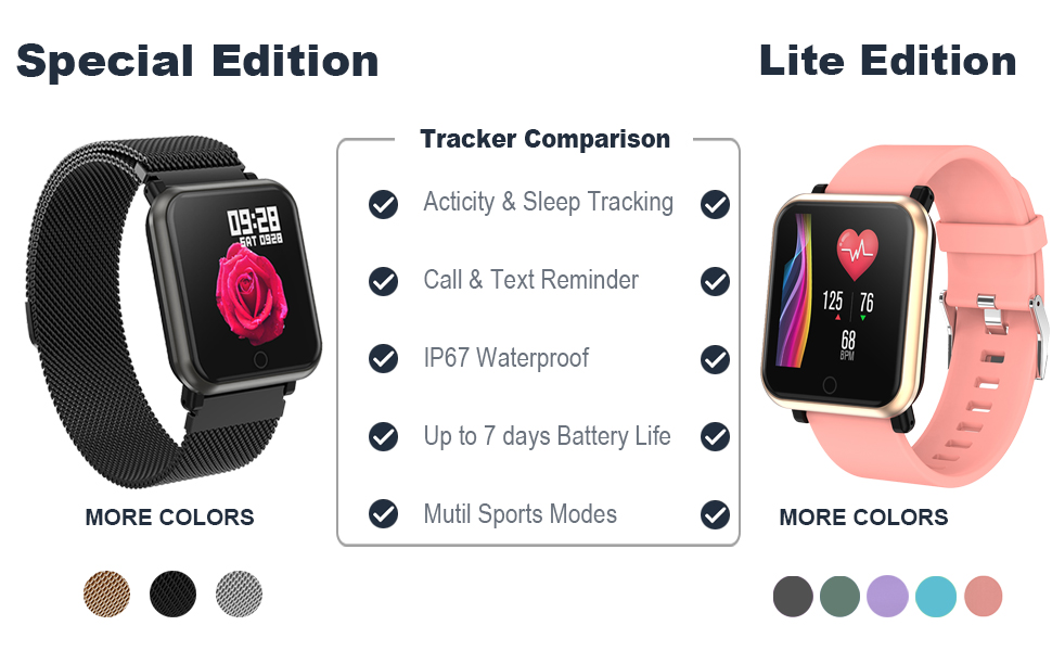 Huawise fitness tracker have spencil edition and lite edition