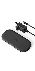 dual wireless charger with adapter