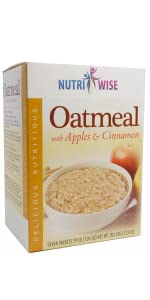 Oatmeal breakfast high protein low calorie medical grade weight loss doctor healthy apples cinnamon