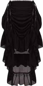 steampunk high-low skirt