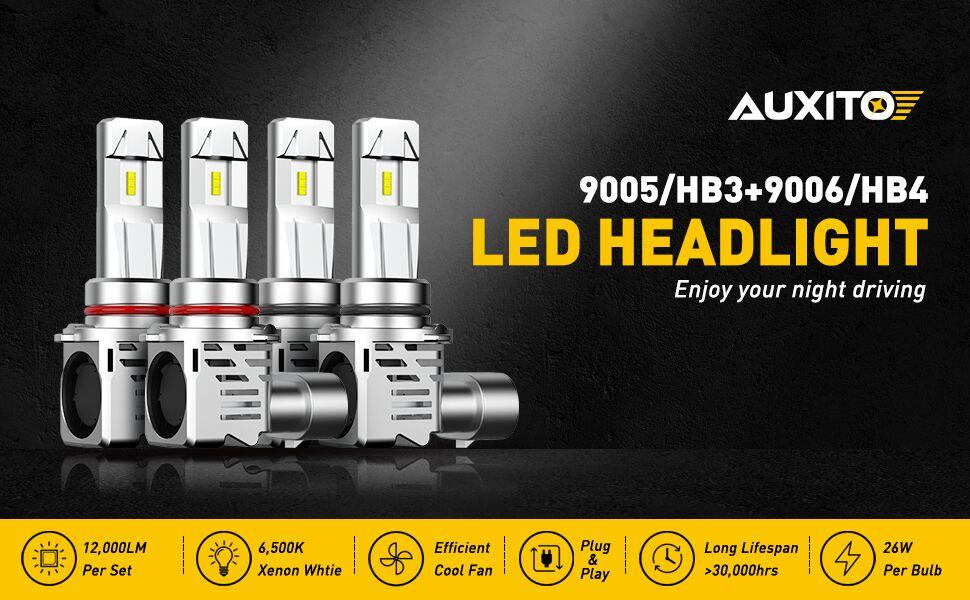 9005 9006 led headlight bulbs combo