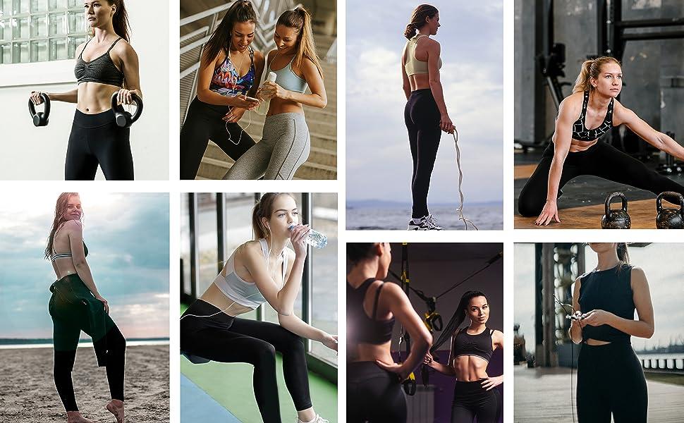 women leggings pants yoga workout high waist pockets gym girls activewear ladies stretch fitness