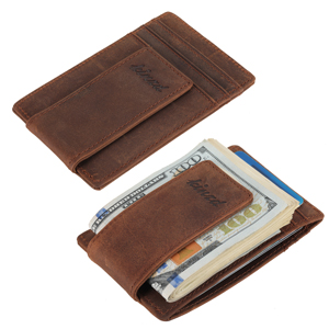 crazhy horse leather money clip