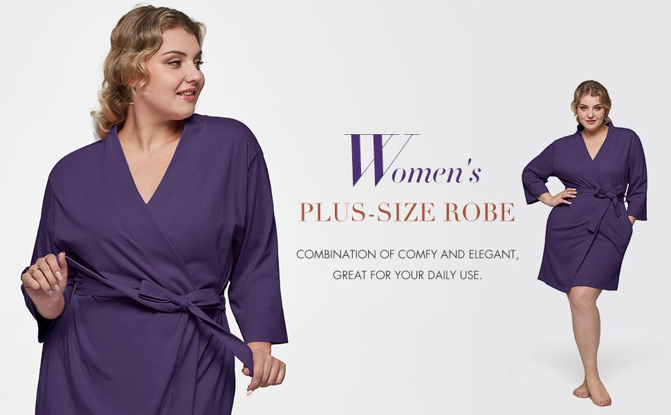 plus size women robe