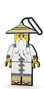 LEGO Ninjago Movie Sensei Wu Luggage Bag Tag