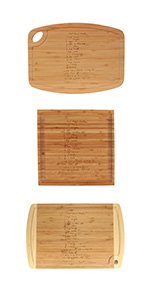 Recipe Engraved Cutting Boards