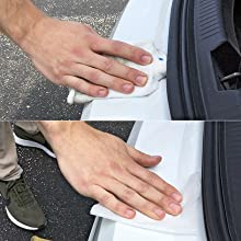 Images Instructing How To Clean Bumper Surface