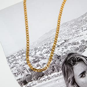 benevolence la men's curb chain necklace steel 14k gold chain for men