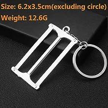 AD/_ Creative Shovel Axe Metal Keyring KeyChain Key Ring Ornament Mini Tool Penda