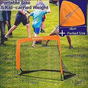portable soccer goal for kids kid carry weight light